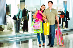 In the shopping mall stock images
