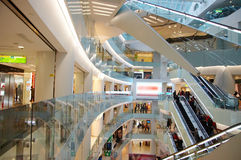 Shopping mall. Interior of a massive shopping mall in beijing Royalty Free Stock Photography