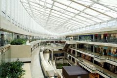 Shopping mall. A modern shopping center of Beijing Royalty Free Stock Images