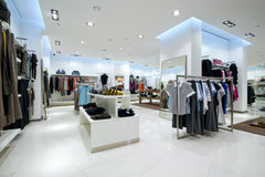 Shopping mall. Interior of a modern shopping mall Stock Images