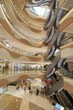 Shopping mall in Asian China Shanghai supermaket store royalty free stock photography