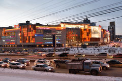 Shopping mall Aura in Novosibirsk, Russia Royalty Free Stock Images