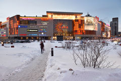 Shopping mall Aura in Novosibirsk, Russia Stock Images