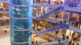 Shopping mall AVIAPARK, Moscow, Russia. stock footage