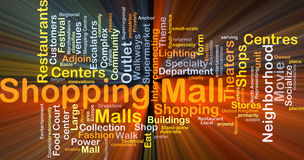 Shopping mall background concept glowing Royalty Free Stock Photo