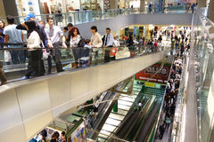Shopping Mall Belt Escalator Royalty Free Stock Images
