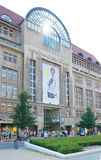 Shopping mall in berlin. Exterior of the famous 'kaufhaus des westens' (KaDeWe) in Berlin. KaDeWe is the second-largest department store in Europe and employs Stock Photography