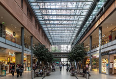 Shopping Mall Berlin Germany. A shopping mall with a glass ceiling in Berlin, Germany Royalty Free Stock Images