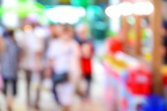 Shopping mall blur background with bokeh. Shopping mall blur background with bokeh Royalty Free Stock Photography