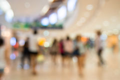 Shopping mall blur background Royalty Free Stock Images