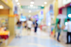 Shopping mall blur background with bokeh. Shopping mall blur background with bokeh Royalty Free Stock Photo