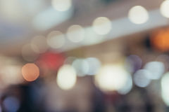 Shopping mall blur background with bokeh Stock Photos