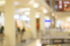 Shopping mall in blur Royalty Free Stock Images