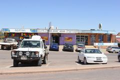 Shopping mall cars mining town Coober Pedy, Australia Stock Image