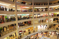 Shopping Mall. Shopping Center - Mall with a lots of stores Royalty Free Stock Images
