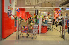 Shopping Mall Check Out. Shopping at Hyperstar Emporium Mall, Lahore, Pakistan Royalty Free Stock Photos
