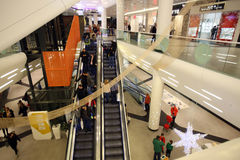 Shopping in Mall for Christmas Royalty Free Stock Photography