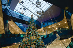 Shopping mall at christmas Stock Image