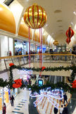 Shopping Mall at Christmas Time Royalty Free Stock Photography