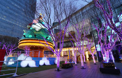 Shopping Mall And Christmas Tree. European style shopping center in Beijing.This is an attractive place to relaxand shopping.People built a Christmas tree during Stock Image