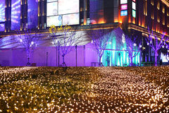 Shopping Mall And Christmas Tree. European style shopping center in Beijing.This is an attractive place to relaxand shopping.People built a Christmas tree during Stock Photography