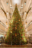 Shopping Mall Christmas Tree. A grand Christmas tree in a Chicago shopping mall Royalty Free Stock Photography