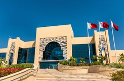 A shopping mall in the city of Muharraq, Bahrain. A shopping mall in the city of Muharraq, Kingdom of Bahrain Royalty Free Stock Photos