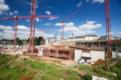 Shopping mall construction Stock Images