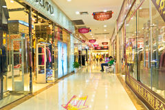 Shopping mall corridor Royalty Free Stock Image