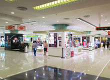 Shopping Mall Cosmetics Counter Stock Photography
