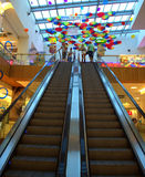 Shopping mall decoration Stock Photos