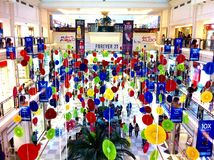 Shopping Mall Decorations Stock Photography