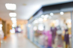 Shopping mall department store, image blur Royalty Free Stock Images