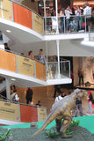 Shopping Mall and the dino Stock Photo