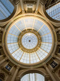 Shopping mall dome. The high dome of a shopping mall with its concentric circles and classic architecture Stock Photography