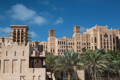 The shopping mall in Dubai. Beautiful shopping mall Souk Madinat Jumeirah in Dubai, UAE Royalty Free Stock Photography