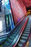 Shopping mall escalator decor Royalty Free Stock Images