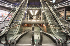 Shopping mall escalator Royalty Free Stock Images