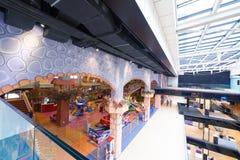 Shopping mall  escalators Royalty Free Stock Photos