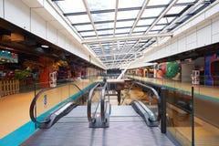 Shopping mall  escalators Royalty Free Stock Images