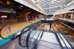 Shopping mall  escalators Stock Photography