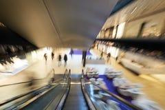 Shopping mall  escalators Stock Photos