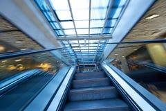 Shopping mall  escalators Stock Images