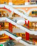 Shopping mall escalators, Shanghai, China Stock Photos