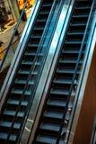 Shopping Mall Escalators. Vertical filtered shot Royalty Free Stock Image