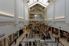 Shopping Mall. An example of the interior of a shopping mall in England Royalty Free Stock Photography