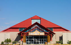 The shopping mall at fort st. john, canada. The exterior of a commercial  building in northern canada Royalty Free Stock Image