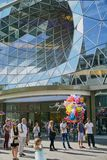 Glass Vortex Architecture in Frankfurt Germany royalty free stock images