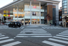 Shopping mall in front of the crossing in Kanazawa shopping area Stock Photo