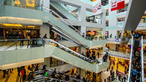 The shopping mall is full of customers during Spring Festival in Beijing